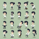 Business men and women character ,  vector Stock Photo