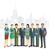 Business men and women in the city Stock Image