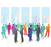 Business Men and Women in a Group stock illustration
