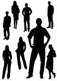 Business men and women shapes Royalty Free Stock Images