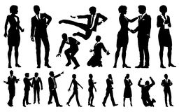 Business Men and Women Silhouettes. A set of very high quality business men and women people silhouettes Stock Photo