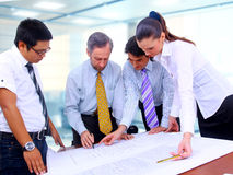 Business men and women working Royalty Free Stock Photography