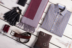 Business menswear. Beautiful collage of business menswear Royalty Free Stock Photos