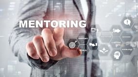 Business Mentoring. Personal Coaching. Training personal development concept. Mixed media. Business Mentoring. Personal Coaching. Training personal development stock photo