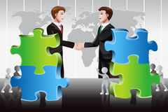 Business merger concept Stock Photo