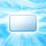 Business message. Blank business board for your lettering, for your business message on abstract blue background Royalty Free Stock Photos