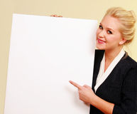 Business message and girl Stock Photos