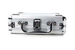 Business metal suitcase Royalty Free Stock Photography