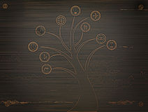 Business metal tree icon, business concept Stock Photography