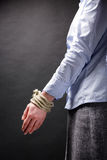 Business Metaphor - Tied Up Hands Stock Images