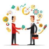 Business Metaphors, Handshake ,Investment, Partner Royalty Free Stock Photos