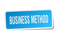 Business method sticker. Business method square sticker  on white background Royalty Free Stock Photo