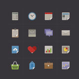 Business metro retro icon set Royalty Free Stock Photos