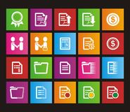 Business metro style icon sets. Suitable for user interface Royalty Free Stock Photos