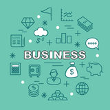 Business minimal outline icons Royalty Free Stock Photo