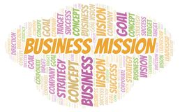 Business Mission word cloud. Wordcloud made with text only vector illustration