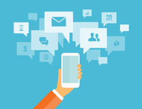 Business mobile communication and socail connection Royalty Free Stock Image