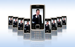 Business mobile concept Stock Image