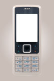 Business mobile phone with clean display. On gray background Stock Image