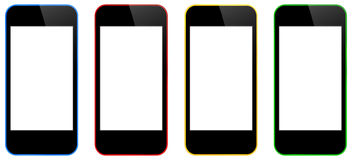 Business Mobile iPhones Isolated Royalty Free Stock Photography