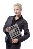 Business model with calculator Royalty Free Stock Photography
