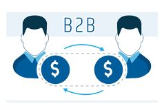 Business model of cooperation of partners B2b. Vector Stock Photography