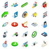 Business model icons set, isometric style. Business model icons set. Isometric set of 25 business model vector icons for web isolated on white background Stock Photo