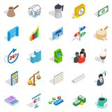 Business model icons set, isometric style. Business model icons set. Isometric set of 25 business model vector icons for web isolated on white background Royalty Free Stock Photo