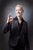 Business model making ok gesture Stock Photo