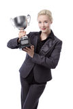 Business model with trophy Stock Photos