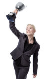Business model with trophy Royalty Free Stock Image