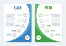 Business Modern Brochure Template. Minimalist Clean Flyer Layout. Design in A4 Size with Dinamic Shape. Vector Illustration Royalty Free Stock Image