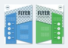 Business Modern Brochure Template. Minimalist Clean Flyer Layout. Design in A4 Size with Dinamic Shape. Vector Illustration Royalty Free Stock Images