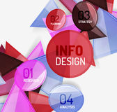 Business modern colorful geometric infographics Royalty Free Stock Photo