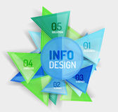Business modern colorful geometric infographics Royalty Free Stock Image