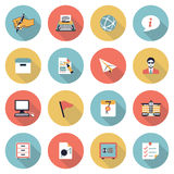Business modern flat color icons. Stock Images