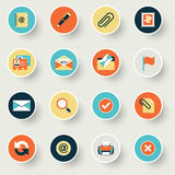 Business modern flat color icons. Stock Image