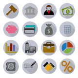 Business Modern Icons Set Royalty Free Stock Photography