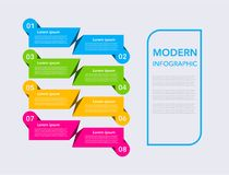 Business modern infographic. vector infographics timeline design template. step set. vector illustration. colorful royalty free illustration