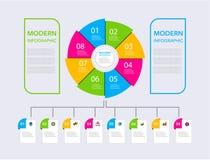 Business modern infographic. vector infographics timeline design template. step set. vector illustration. colorful stock illustration