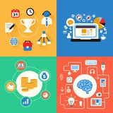 Business and modern technologies concepts icon set Royalty Free Stock Image