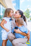Business mom and children royalty free stock photography
