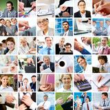 Business moments royalty free stock photography
