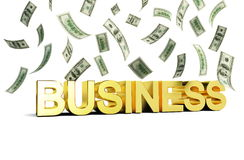 Business money. Business rain of money on a white background Royalty Free Stock Photos