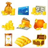 Business and Money. Vector illustration of business and money related object Royalty Free Stock Image