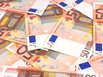 Business money background with european euro Royalty Free Stock Image