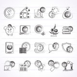Business, Money and Finance icons Stock Photos