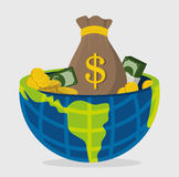 Business, money and global economy. Business,money and global economy with colorful icons, vector illustration eps 10 Stock Photos