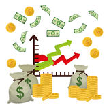Business, money and global economy Stock Image