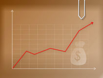 Business money graph Royalty Free Stock Image